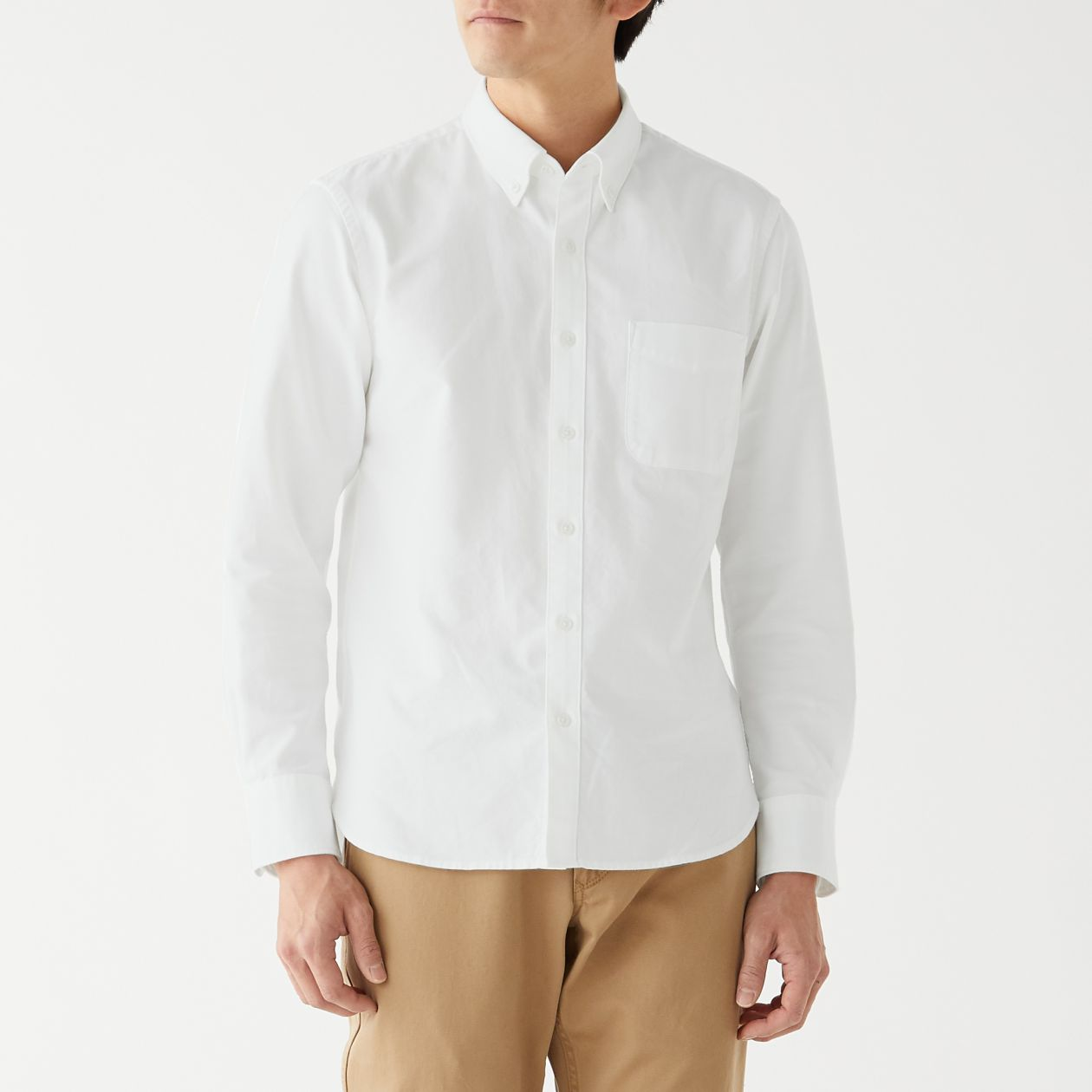 無印 オックスボタンダウンシャツ