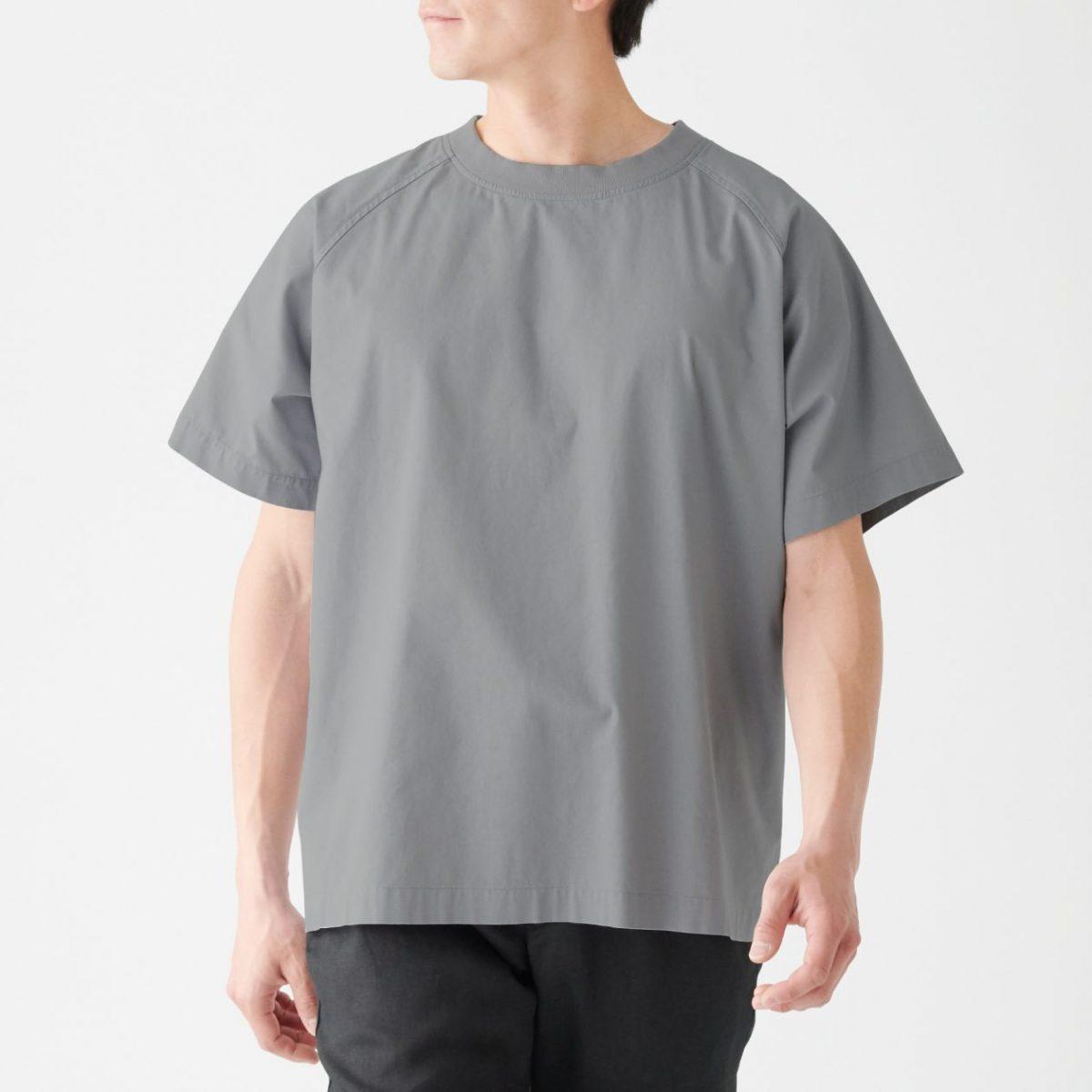 無印良品 インド綿プルオーバー半袖シャツ