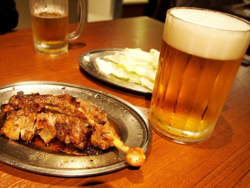 骨付鳥とビール
